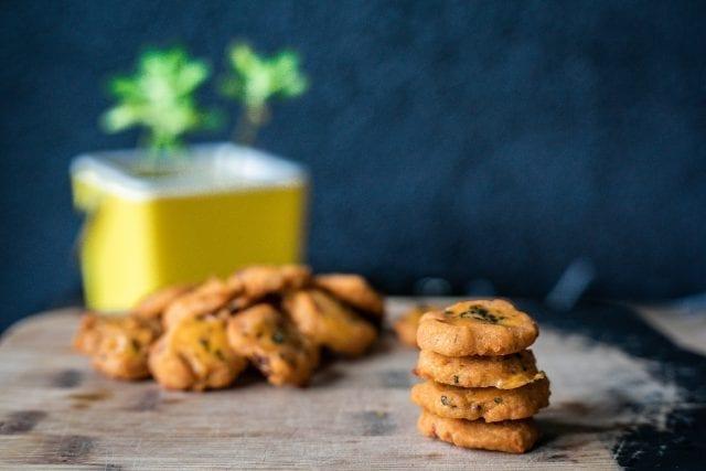 cookies salés pesto rosso sans gluten