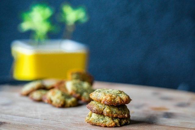 Cookies salés pesto vert sans gluten
