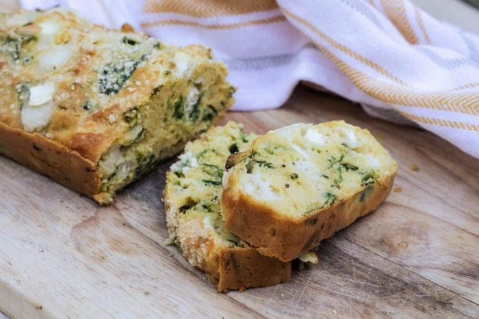 cake-chevre-poireaux sans gluten
