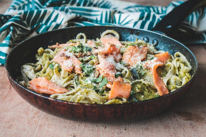recette tagliatelle courgettes saumon