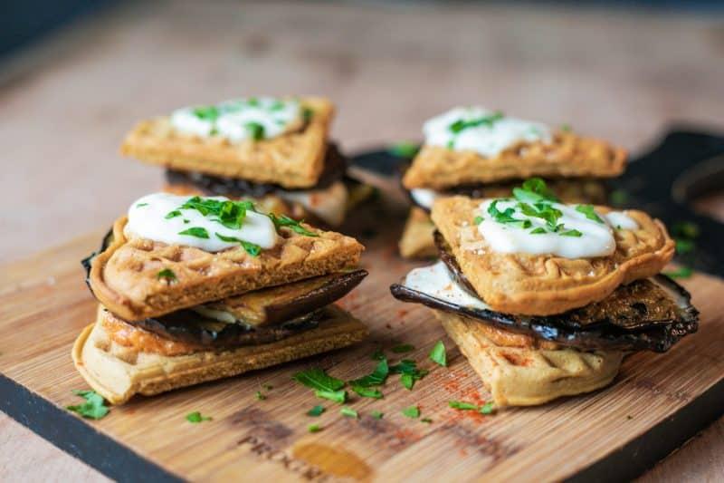 sandwich végétarien mozzarella aubergines